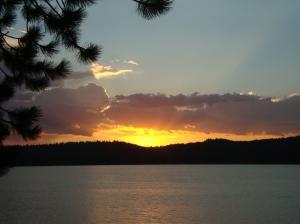 Sunset at Payette Lake
