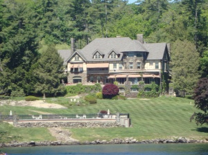 "One of many ""summer camps"" aka mansions on the lake"