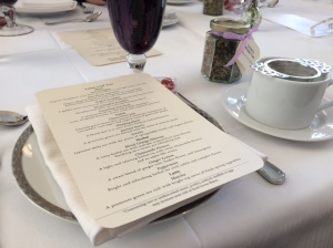 Tea menu at the Boston Public Library