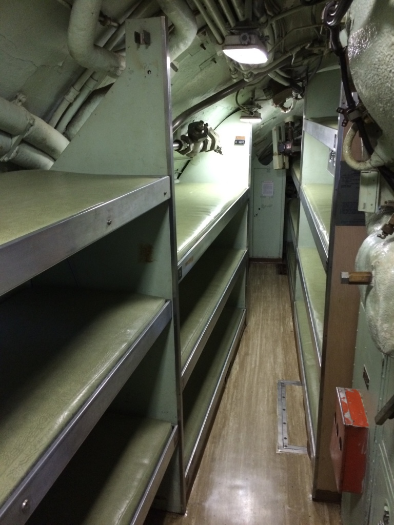 bunks on the USS Albacore